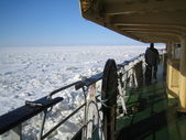 View from icebreaker deck — Stock Photo