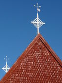 Church roof with cross — Stock Photo