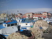 Fishing port in catania — Stock Photo