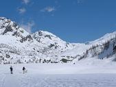 Winter landscape in the alps — Stock Photo