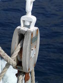 Boat pulley — Stock Photo