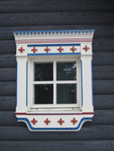 Carelian window detail — Foto de Stock