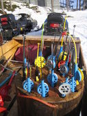 Colorful fishing equipment — Stok fotoğraf