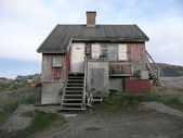Old greenlandic house — Stock Photo