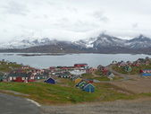 Greenlandic village — Stockfoto