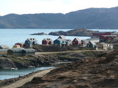 Houses of tasiilaq — Stock Photo