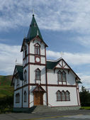 Husavik church — Stock fotografie
