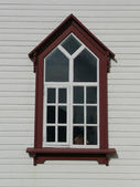 Husavik church window — Stok fotoğraf
