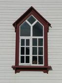 Husavik church window — Stock Photo