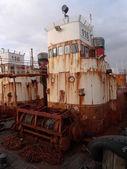Rotten fishing boat — Stock Photo