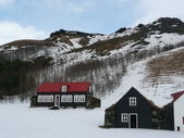 Icelandic farm in winter — Stock Photo