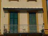 Balcony on como lake — Stock Photo