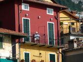 Na balkonie w varenna — Zdjęcie stockowe