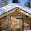 Stock Photo: Chalet in lapland