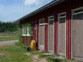 Storage house in korvala — Stock Photo