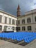 Summer cinema at palazzo reale — Stock Photo