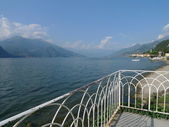 Balcony on como lake — Stock Photo