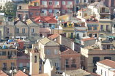 Houses and roofs in cagliari — Stock Photo