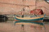 Fishing boat at dock — Stock Photo