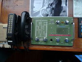 Vintage ship telephone — Stock Photo