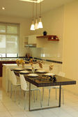 Simple and modern kitchen / dining room design — Stock Photo
