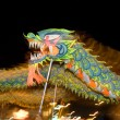 图库照片: Motion blur chinese traditional dragon dance