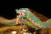 Motion blur chinese traditional dragon dance — Stock Photo