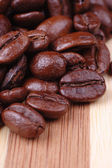 Few coffee beans close up/ macro — Stock Photo