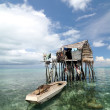 Bajau fisherman's wooden hut - Stock Photo