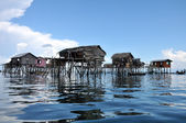 Floating Bajau fisherman's house — Stock Photo
