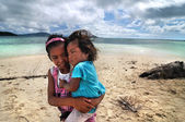 Bajau kids — Stock Photo