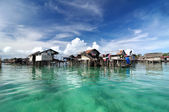 Bajau fisherman's village — Stock Photo