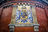 Hungary coat of arms on Castle hill wall in Budapest, Hungary. C — Stock Photo