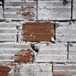 Decorative old red brick wall with whitewash, background, texture — Stock Photo #14862137