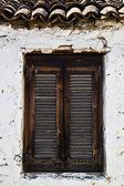 Traditional old wooden window in Greece — Foto de Stock