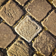 Decorative, old road from a cobble-stone, background, texture — Foto Stock