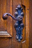 Decorative antique door handle — Stock Photo