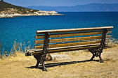 Panorama view at Aegean sea on Sithonia, Halkidiki penisula — Stock Photo