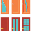 Stock Vector: Set Of Doors For Rooms