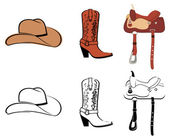 Set Of Clothes Of The Cowboy — Stock Vector