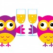 Stock Vector: Owl With Glasses