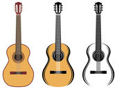 Set Of Guitars — Stock Vector