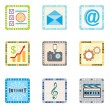 Icons for smart phone - Image vectorielle