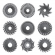 Stock Vector: Milling Cutters For Metal