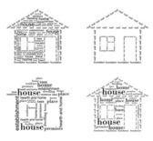 Lägenhet ritning — Stockvektor