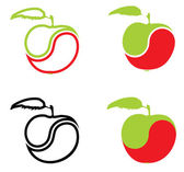 Icons In The Form Of An Apple — Stock Vector