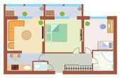 Apartment drawing — Stock Vector