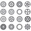Stock Vector: Pinions And Gears