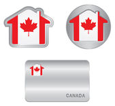 Home icon on the Canada flag — Stock Vector