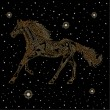 Horse of the stars - Stock Vector